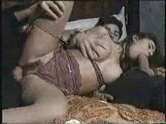 Sexy honey in classic porn movie scene 2