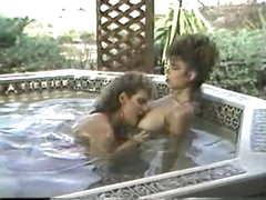 Erica Boyer &amp,amp, Christy Canyon in the Hot Tub
