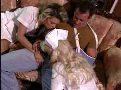 Hot blond nurses ready for a threesome