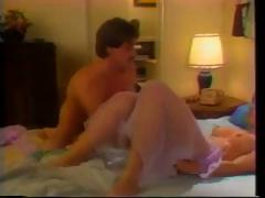Vintage porn with this dark brown sucking and fucking in a Motel