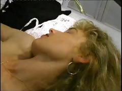 Sexually excited blonde MILF gets a hardcore pile driver fucking in her pussy